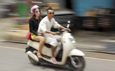 Riding a Scooter in Phuket